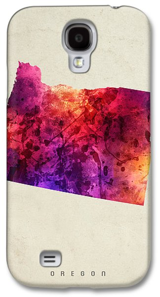 Oregon State Map 05 Galaxy S4 Case by Aged Pixel