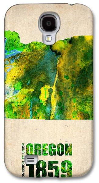 Universities Galaxy S4 Case - Oregon Watercolor Map by Naxart Studio