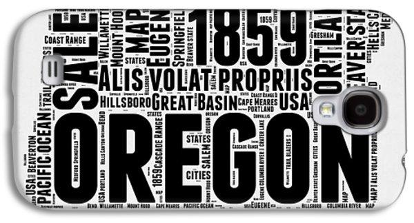Oregon Word Cloud 1 Galaxy S4 Case