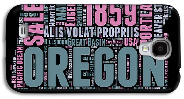Oregon Word Cloud 2 Galaxy S4 Case by Naxart Studio