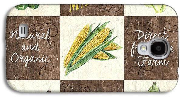 Vegetables Galaxy S4 Case - Organic Market Patch by Debbie DeWitt