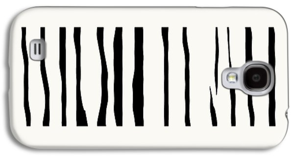 Organic No 12 Black And White Line Abstract Galaxy S4 Case