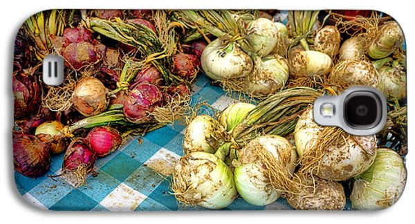 Organic Onions At A Farm Market Galaxy S4 Case by Olivier Le Queinec