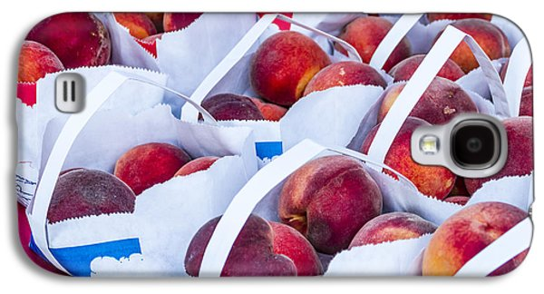 Organic Peaches At The Market Galaxy S4 Case by Teri Virbickis