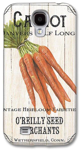 Carrot Galaxy S4 Case - Organic Seed Packet 2 by Debbie DeWitt