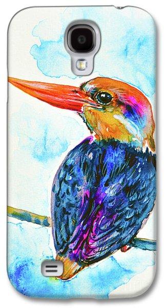 Oriental Dwarf Kingfisher Galaxy S4 Case by Zaira Dzhaubaeva