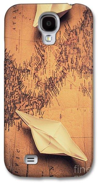 Origami Boats On World Map Galaxy S4 Case by Jorgo Photography - Wall Art Gallery