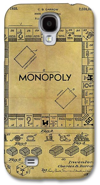 Original Monopoly Board Game Patent Galaxy S4 Case by Dan Sproul