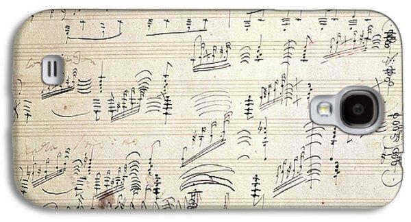 Original Score Of Beethoven's Moonlight Sonata Galaxy S4 Case