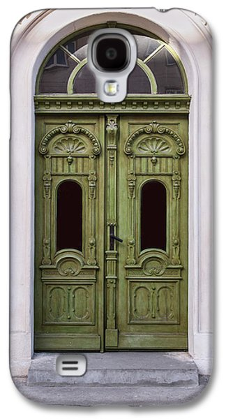 Ornamented Gates In Olive Colors Galaxy S4 Case by Jaroslaw Blaminsky