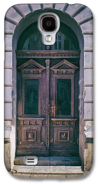 Ornamented Wooden Gate In Violet Tones Galaxy S4 Case by Jaroslaw Blaminsky