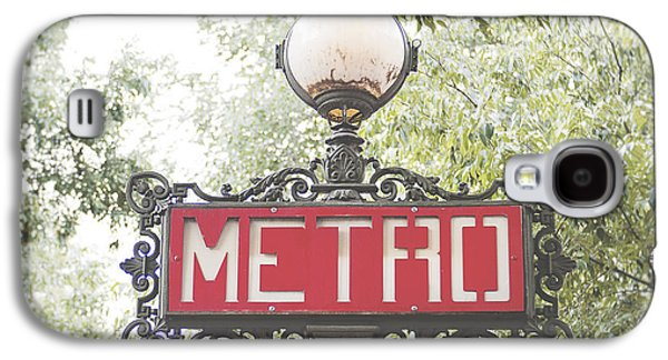 Transportation Galaxy S4 Case - Ornate Paris Metro Sign by Ivy Ho