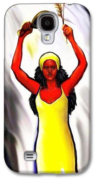 Oshun -goddess Of Love -4 Galaxy S4 Case by Carmen Cordova