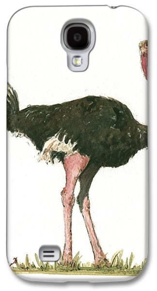 Ostrich Bird Galaxy S4 Case by Juan Bosco