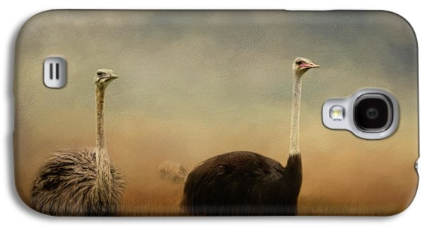 Ostrich Couple Galaxy S4 Case by Jai Johnson