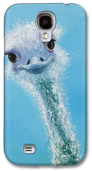 Ostrich Painting Galaxy S4 Case by Jan Matson