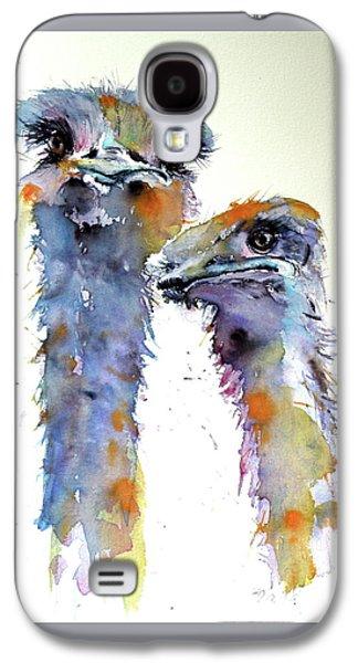 Ostrich Galaxy S4 Case - Ostriches by Kovacs Anna Brigitta