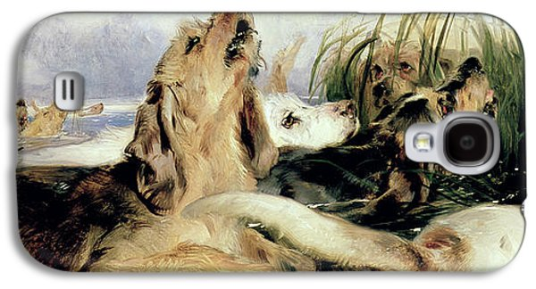 Otter Galaxy S4 Case - Otter Hounds by Sir Edwin Landseer