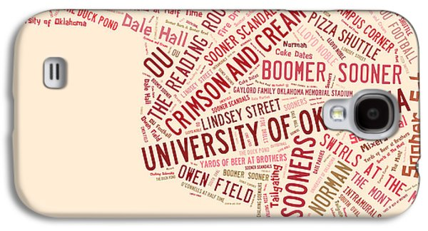 Ou Word Art University Of Oklahoma Galaxy S4 Case by Roberta Peake