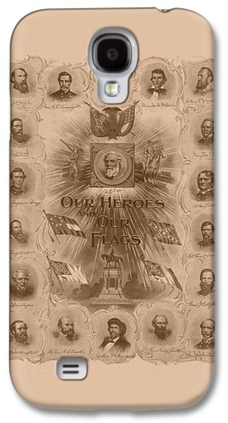 Our Heroes And Our Flags Galaxy S4 Case by War Is Hell Store