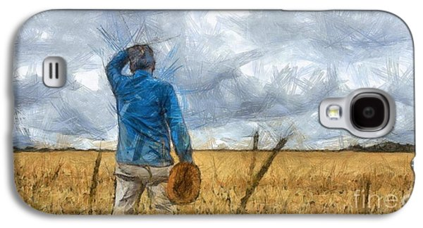 Out In The Fields Galaxy S4 Case