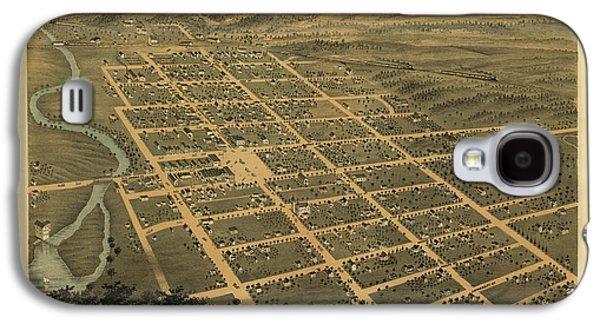 Owatonna, Minnesota 1870 Galaxy S4 Case by MapResearcher