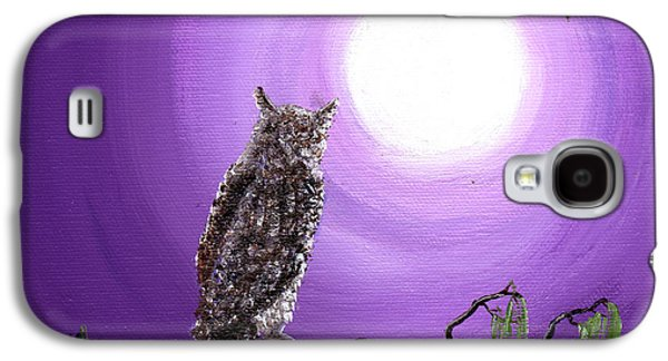Owl On Mossy Branch Galaxy S4 Case by Laura Iverson