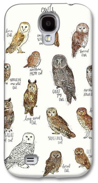 Owls Galaxy S4 Case by Amy Hamilton