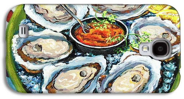 Food And Beverage Galaxy S4 Case - Oysters On The Half Shell by Dianne Parks