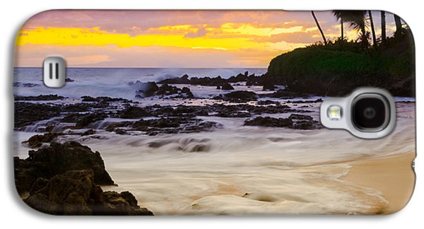 Paako Beach Sunset Jewel Galaxy S4 Case by Sharon Mau