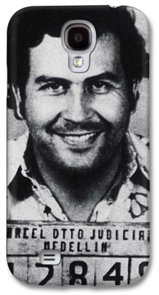 Pablo Escobar Mug Shot 1991 Vertical Galaxy S4 Case by Tony Rubino