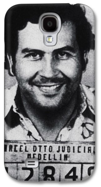 Pablo Escobar Mug Shot 1991 Vertical Galaxy S4 Case by Tony Rubino