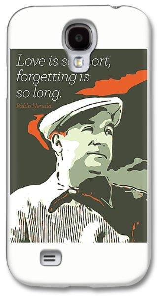 Pablo Neruda Galaxy S4 Case