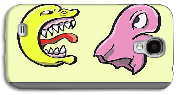 Pac Man And Ghost Illustration Galaxy S4 Case by Jorgo Photography - Wall Art Gallery