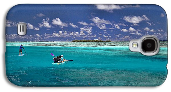 Paddle Galaxy S4 Cases - Paddling in Moorea Galaxy S4 Case by David Smith