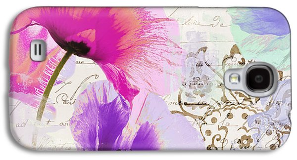 Paint And Poppies Galaxy S4 Case
