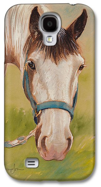 Paint Horse Pause Galaxy S4 Case by Tracie Thompson