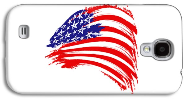 Painted American Flag Galaxy S4 Case