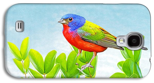 Bunting Galaxy S4 Case - Painted Bunting by Laura D Young