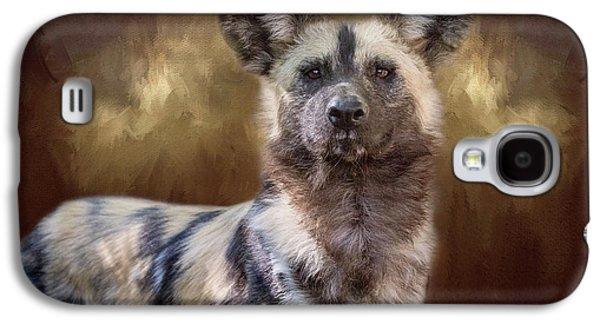 Painted Dog Portrait II Galaxy S4 Case