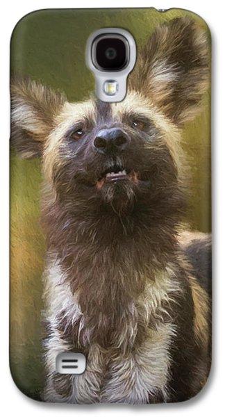 Painted Dog Portrait Galaxy S4 Case