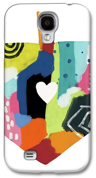 Painted Dreidel With Heart- Art By Linda Woods Galaxy S4 Case