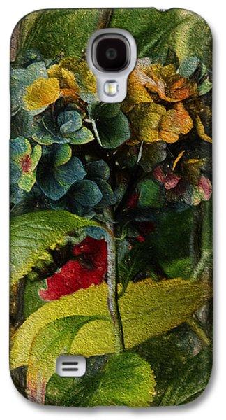 Painted Hydrangeas  Galaxy S4 Case by Bonnie Bruno