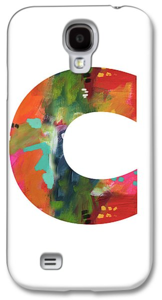 Charlotte Galaxy S4 Case - Painted Letter C-monogram Art By Linda Woods by Linda Woods