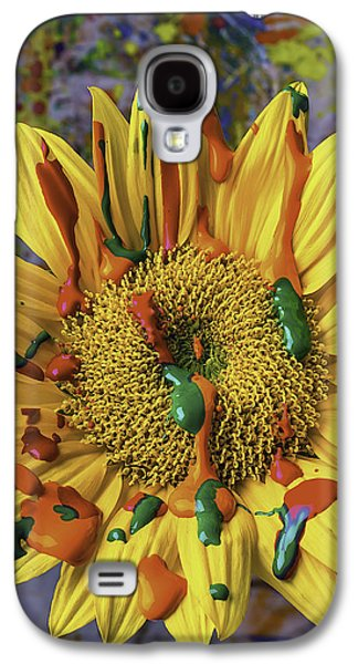 Painted Sunflower Galaxy S4 Case by Garry Gay