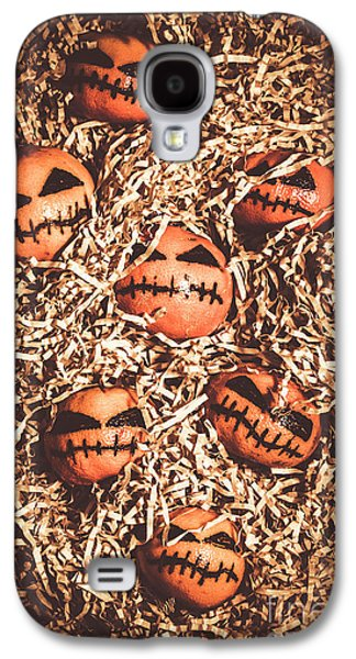 painted tangerines for Halloween Galaxy S4 Case by Jorgo Photography - Wall Art Gallery