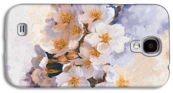 Painting 377 3 Cherry Blossoms Galaxy S4 Case by Mawra Tahreem