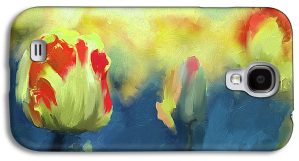 Painting 385 3 Pink Tulip Galaxy S4 Case