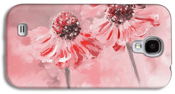 Painting 390 2 Twin Flowers Galaxy S4 Case