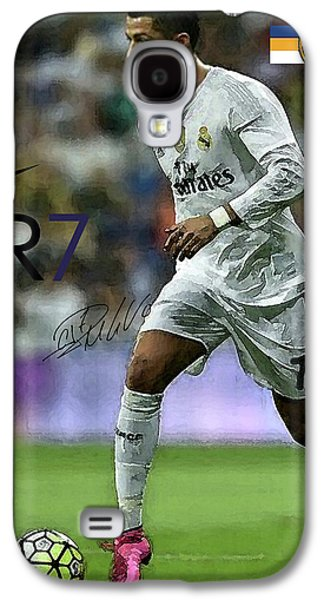 Mixed Media Painting, Signed, Cristiano Ronaldo, Real Madrid, Cr 7 Galaxy S4 Case